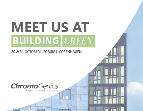 """Cover photo for a news update with the text """"Meet us at Building Green""""."""