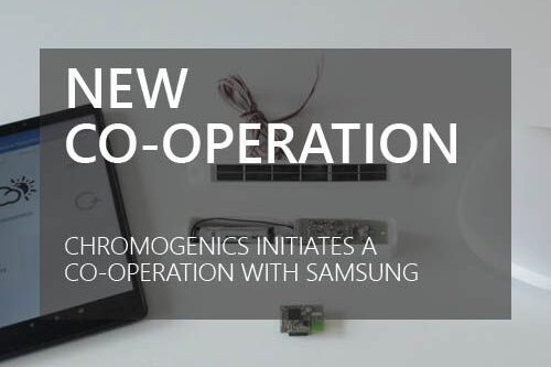 """Cover photo for news article about """"New Co-operation, ChromoGenics initiates a co-operation with Samsung"""""""