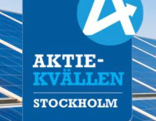 Screenshot of the logo for Aktiekvällen Stockholm