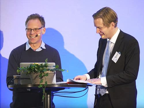 Two men from ChromoGenics are presenting at Aktiekvällen in Gothenburg.