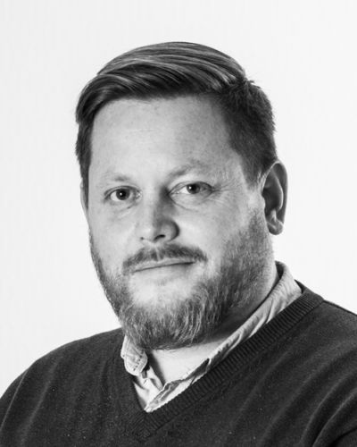 Black and white profil picture of Anders Eriksson, Project at ChromoGenics