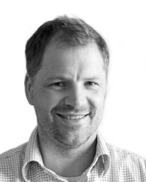 Black and white profil picture of Greger Gregard, CTO at ChromoGenics