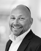 Black and white profil picture of Johan Hedin, chairman of the board at ChromoGenics