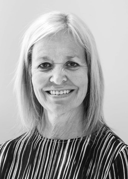 Black and white profil picture of Mari Broman, board of directors at ChromoGenics