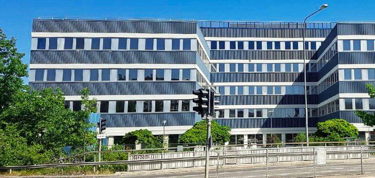 The office building Stora Blå in Humlegården, Stockholm