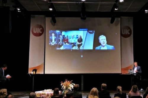 ChromoGenics pitching to dragons in Silicon Valleu during Uppsala Innovation Day