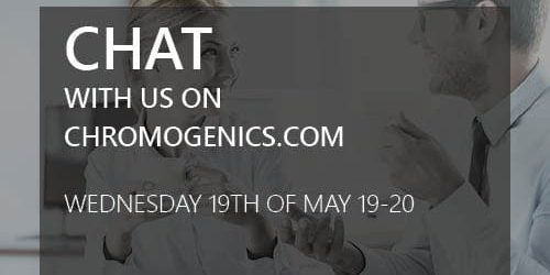 Chat with ChromoGenics 19th may 7 PM -9 PM