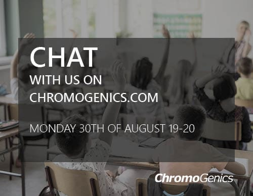 Chat with ChromoGenics, monday 30th of august 7PM - 8PM