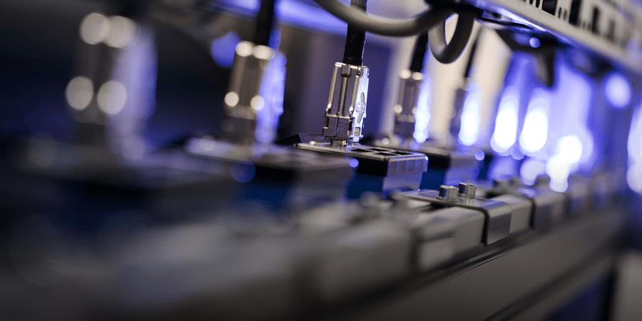 Close-up glass machine at ChromoGenics
